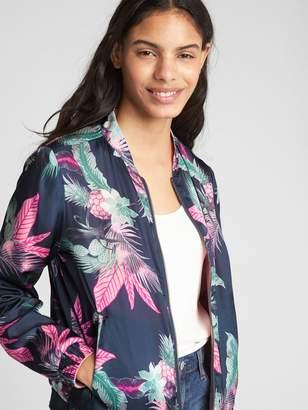 Gap Reversible Floral Print Bomber Jacket