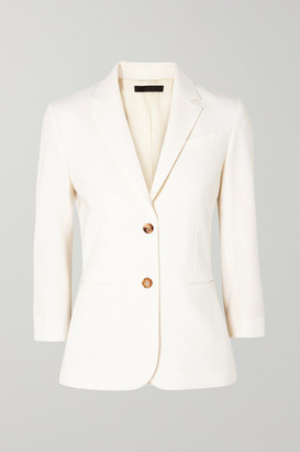 The Row Schoolboy Stretch Wool-blend Crepe Blazer - Ivory