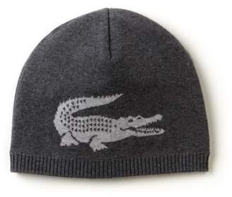 Lacoste Men's Jacquard Crocodile Wool Beanie
