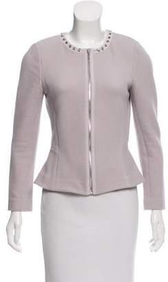 Rebecca Taylor Stud-Embellished Collarless Jacket