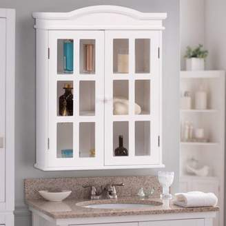 URBAN RESEARCH Apontus Wall-Mount Bathroom Double Shelved Storage Cabinet