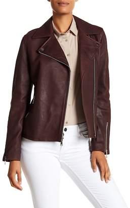 T Tahari Skylar Leather Jacket