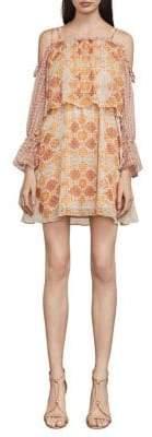 BCBGMAXAZRIA Dimitri Terracotta Tapestry Dress