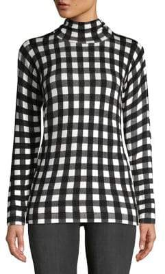 Context Gingham Long-Sleeve Sweater