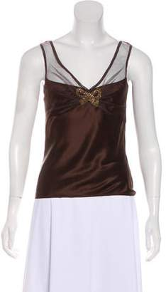 John Galliano Silk Sleeveless Blouse