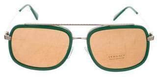 Versace Tinted Aviator Sunglasses