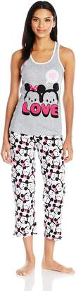 Disney Women's Tsum Tsum 2-Piece Cotton Jersey Pajama Set