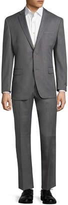 Andrew Marc Marc By Logo Notch Lapel Suit
