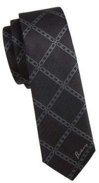 Burberry Chain Jacquard Silk Tie