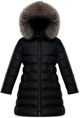 Moncler Girls' Abelle Fur-Trim Down Puffer Coat - Big Kid