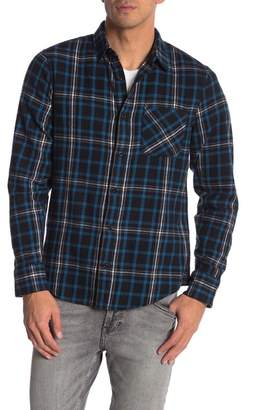 Public Opinion Long Sleeve 1-Pocket Regular Fit Flannel Shirt
