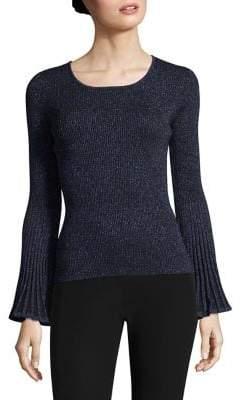 Milly Metallic Rib Sweater