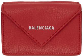 Balenciaga Red Mini Papier Wallet