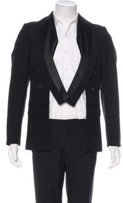 Christian Dior 2006 Wool Cut-Out Tuxedo Blazer