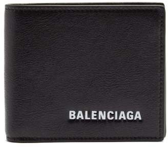 Balenciaga Explorer Bi Fold Leather Wallet - Mens - Black