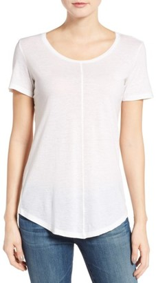 Women's Ag The Jade Cotton & Cashmere Tee $158 thestylecure.com