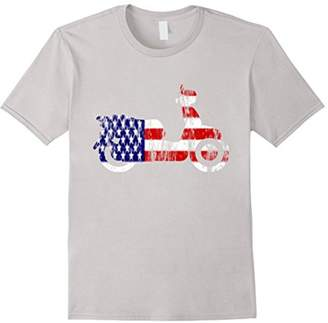 American Flag Scooter USA Patriotic Distressed Style T-shirt