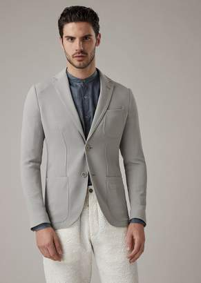 Giorgio Armani Tokyo Range Slim-Fit Jacket In Washed Ottoman