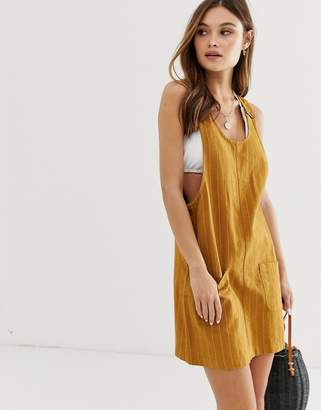 rhythm Mykonos dress in chai stripe