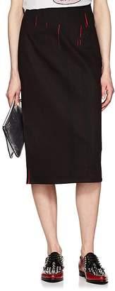 Prada Women's Streaked Denim Pencil Skirt
