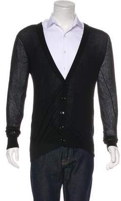 Christian Dior V-Neck Sheer Cardigan