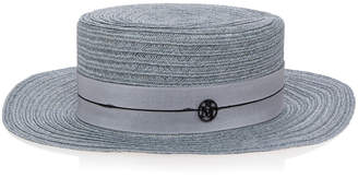 Maison Michel Kiki Straw Boater Hat