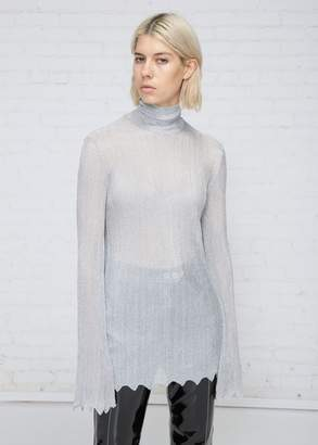 Ellery Minted Funnel Neck Ribbed Sweater