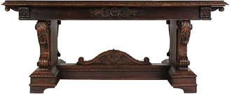 One Kings Lane Vintage Italian Renaissance Trestle Dining Table - Castle Antiques & Design