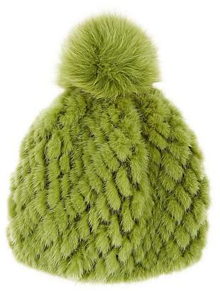Barneys New York Women's Mink & Fox Fur Beanie