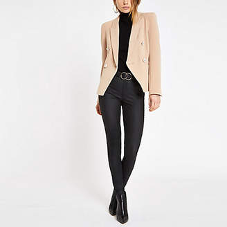 River Island Womens Light Brown double breasted blazer