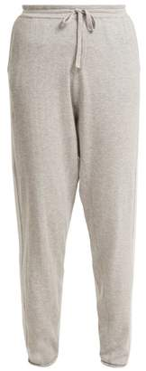 Allude Side Stripe Cotton Blend Knitted Trousers - Womens - Light Grey