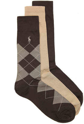 Polo Ralph Lauren Argyle Dress Socks - 3 Pack - Men's