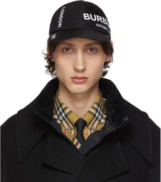 Burberry Black Nylon Casual Baseball Cap
