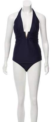 Heidi Klein One-Piece Halter Neck Swimsuit w/ Tags
