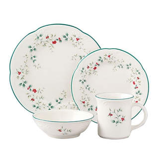Pfaltzgraff Winterberry 16 Piece Dinnerware Set, Service for 4