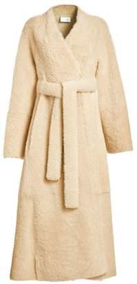 The Row Tanilo Shearling Wrap Coat