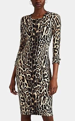 eda5bacc1e3 Burberry Women s Leopard-Print Jersey Dress - Brown ...
