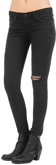 The Legging Ankle - Destroyed Black