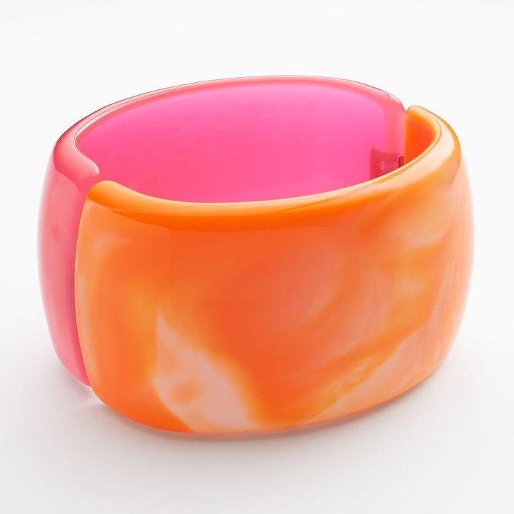 Apt. 9 silver tone bangle bracelet