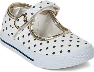 Osh Kosh B'gosh (Toddler Girls) White & Navy Lola Mary Jane Sneakers