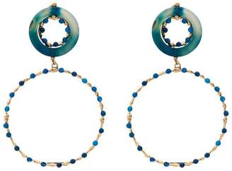 Rosantica blue and gold metallic ruote stone bead earrings