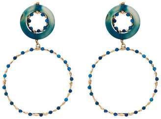 Rosantica blue and gold metallic ruote stone bead earrings