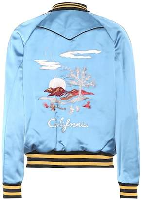 Coach California reversible satin bomber jacket