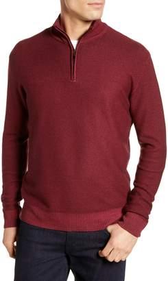David Donahue Ice Merino Wool Quarter Zip Pullover