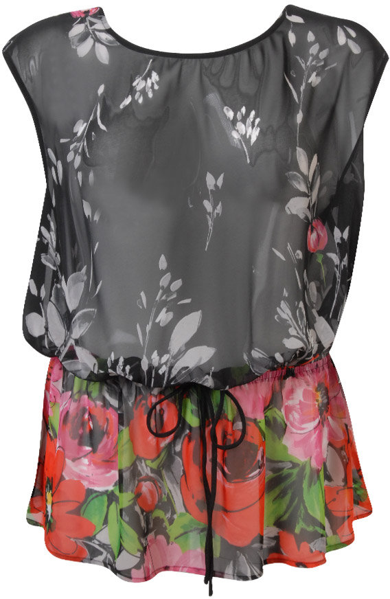 Faith21 Sheer Floral Top