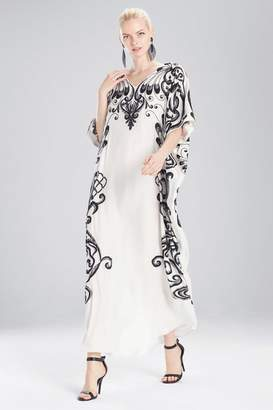 Josie Natori Couture Spiral Floral Caftan