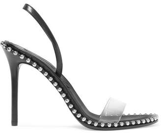 Alexander Wang Nova Studded Leather And Pvc Slingback Sandals - Black