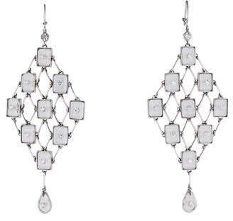 Moritz Glik Quartz and Diamond Chandelier Earrings