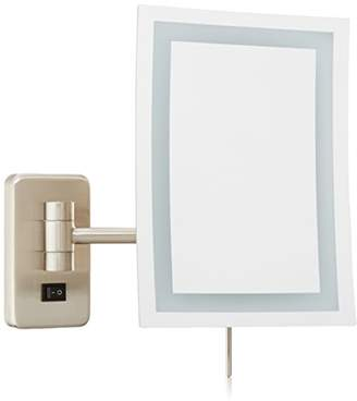Jerdon JRT710NLD 6.5-Inch by 9-Inch Wall Mount Rectangular Direct Wire Makeup Mirror