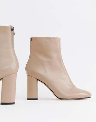 Asos Design DESIGN Embrace leather high ankle boots